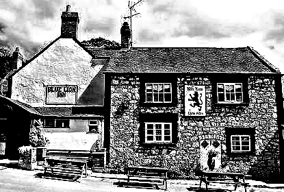 'The Blue Lion Inn', Cwm, Denbighshire, Wales.